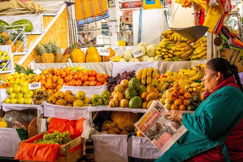 San Pedro Market Cusco History